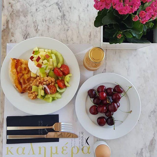 Greek Breakfast At Aressana Spa Hotel & Suites!