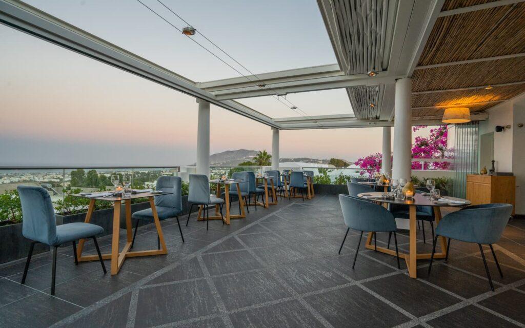 The premises of Ifestioni Restaurant in Santorini